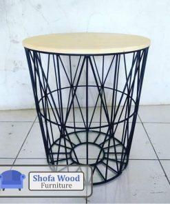 Coffe Table Rangka Besi