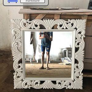 Cermin Dinding Ukir Duco