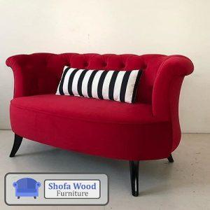 Sofa Bed Modern Merah