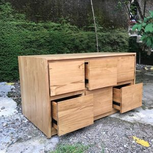 Industrial Drawer Kabinet Natural