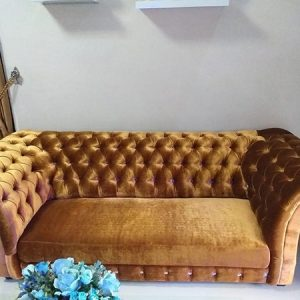 Sofa Chesterfield Gold