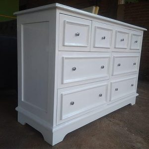 Lemari Drawer Jumbo White Duco