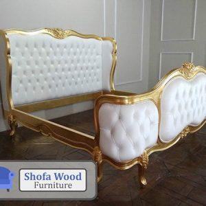 Tempat Tidur Mewah Luxury Gold White