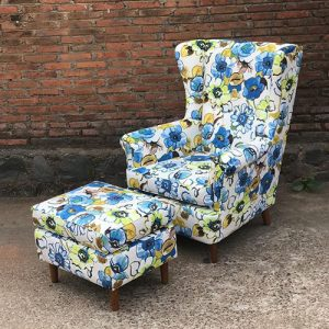 Set Tropical Sofa dan Stool