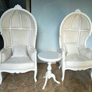 Set Kursi Syahrini Putih